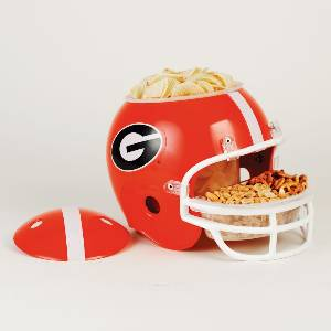 Georgia Bulldogs Snack Helmet Vase Planter