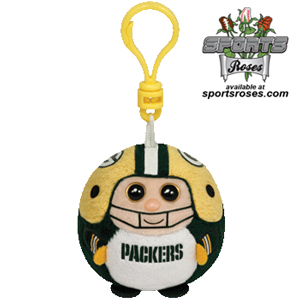 Green Bay Packers Beanie Ballz Clip
