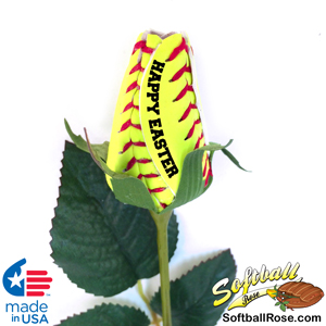 Happy Easter Softball Rose Gift
