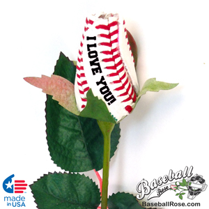 I Love You Baseball Rose Gift