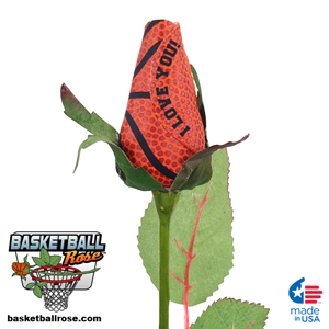 I Love You Basketball Rose - Basketball Themed Gifts