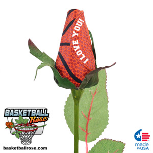 I Love You Basketball Rose Mini-Thumbnail