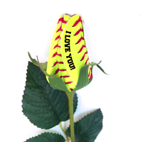 I Love You Softball Rose