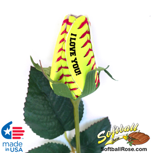 I Love You Softball Rose Gift