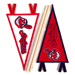 Cleveland Indians MLB Embroidered Mini Pennant Stickers Mini-Thumbnail