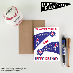 Baseball Greeting Cards by Left Field Cards