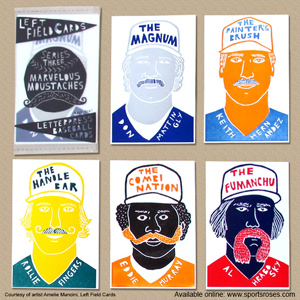 Left Field Cards Marvelous Moustaches Baseball Cards Pack 1