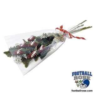 "Football Rose ""Touchdown"" Bouquet - Score a touchdown with this football gift"