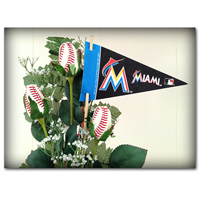 Baseball Gifts|Miami Marlins Flower Arrangements and Gifts