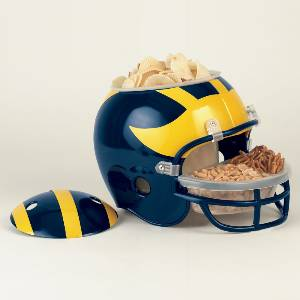 Michigan Wolverines Snack Helmet Vase Planter
