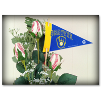 Baseball Gifts|Milwaukee Brewers Flower Arrangements and Gifts