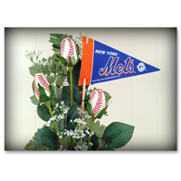 Baseball Gifts|New York Mets Flower Arrangements and Gifts