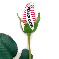 Personalized Baseball Rose Long Stem - Baseball Themed Gifts