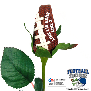 Personalized Football Rose - Football Themed Gifts