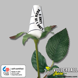 Personalized Volleyball Rose - Volleyball Ball Themed Gifts