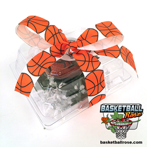 Basketball Rose Boutonnieres for basketball themed weddings, prom, homecoming