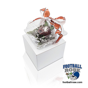 Football Rose Boutonnieres for football themed weddings, prom, homecoming