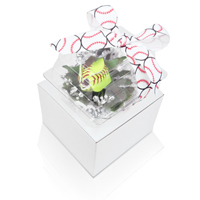 Premium Softball Rose Boutonniere - Attractive gift option - Preserve and protect your Softball Rose
