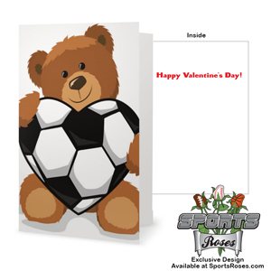 Valentine's Day Soccer Heart Greeting Card