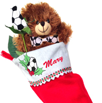 Soccer Rose Stocking Stuffer Gift Set