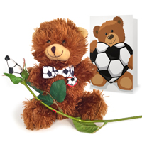 Soccer Rose & Sports Bear Gift Set