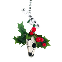 Soccer Rose Mistletoe Ornament