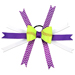 Softball Hair Bow - Purple White Chevrons Mini-Thumbnail