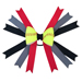 Softball Hair Bow - Black Red Grey Mini-Thumbnail