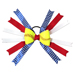 Softball Hair Bow -Red Blue White Chevrons Mini-Thumbnail