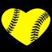 Softball Heart Decal Mini-Thumbnail