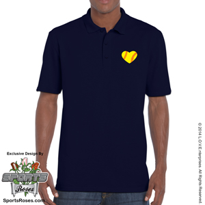 Softball Heart Men's Polo Shirt