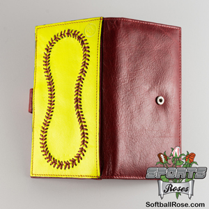 Premium Leather Softball Women's Wallet