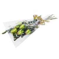 "Softball Rose ""Home Run"" Bouquet - Half Dozen Softball Roses"
