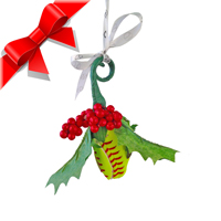 Softball Rose Holiday Mistletoe