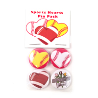 Sports Hearts Pin Pack