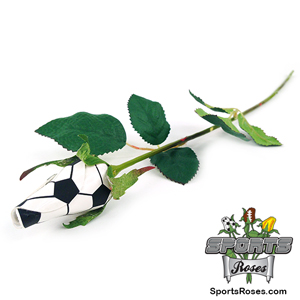 Father's Day Soccer Rose - Soccer Themed Gifts