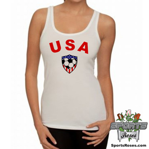 USA Soccer Heart Women's Tank Top