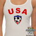 USA Soccer Heart Women's Tank Top Mini-Thumbnail