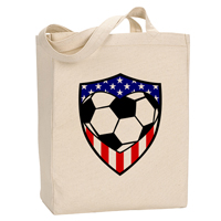 USA Soccer Heart Canvas Tote Bag