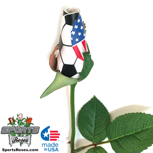 Soccer Rose Long Stem - Soccer Themed Gifts