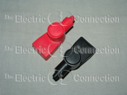 1055 Marine Type Battery Terminal Covers for Top Post Batteries / 1 Black; 1 Red THUMBNAIL