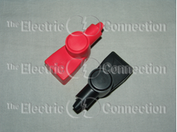 1055 Marine Type Battery Terminal Covers for Top Post Batteries / 1 Black; 1 Red MAIN
