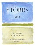2012 Viento Vineyard DRY White Riesling