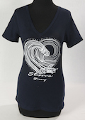Storrs Women's Heartwave V-Neck Shortsleeve T-shirt