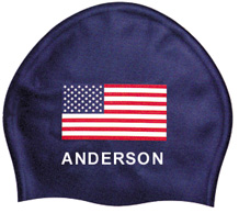 Bettertimes USA Swim Flag Cap w/Name THUMBNAIL