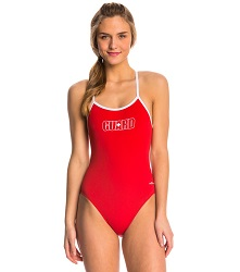 Dolfin Varsity Female Solid String Back with Guard Logo LARGE