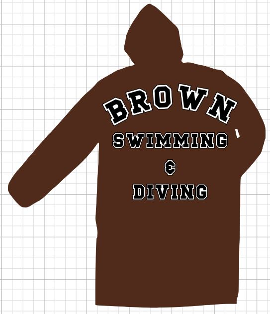 BROWN Swimming & Diving  Parka LARGE