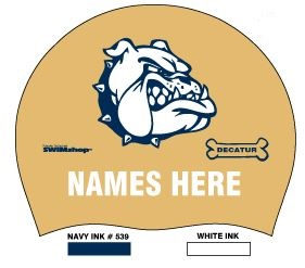 Decatur HS - Silicone Cap w/name set of 2 THUMBNAIL
