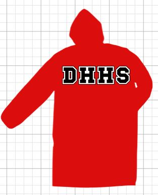 Druid Hills High School  Deluxe Parka with TWILL Lettering