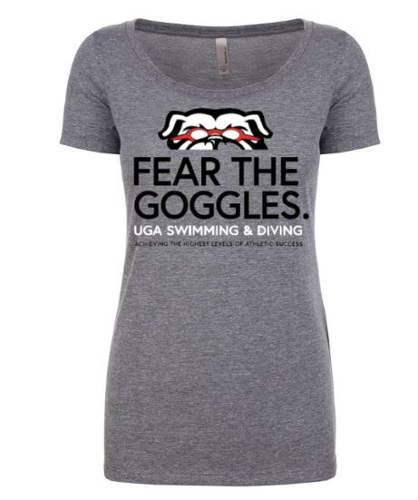 Fear the Goggle Tri blend Ladie's Tee LARGE